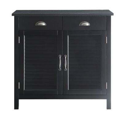 Dobson Wood 2 Door Accent Cabinet Color: Black