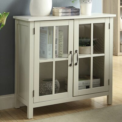 Digby Wood 2 Door Accent Cabinet Color: White