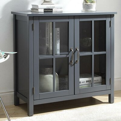 Digby Wood 2 Door Accent Cabinet Color: Gray