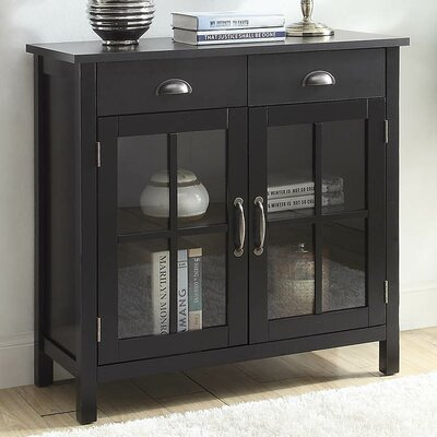 Dillsboro Wood 2 Door Accent Cabinet Color: Black