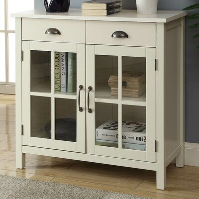 Dillsboro Wood 2 Door Accent Cabinet Color: White
