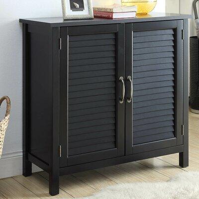 Dixfield 2 Door Accent Cabinet Color: Black