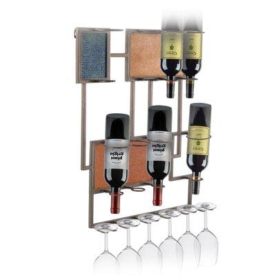 Rhein Metal 8 Bottle Wall Mounted Wine Rack