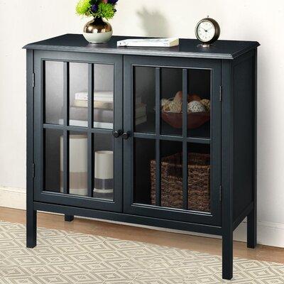 Dittmar 2 Door Accent Cabinet Color: Black