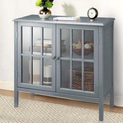 Dittmar 2 Door Accent Cabinet Color: Gray