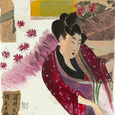 DEInternationalGraphics Kimono Kunstdruck von Sabine Gotzes