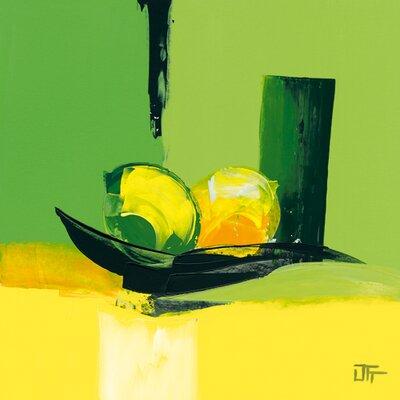 """DEInternationalGraphics """"Eclat vert"""" von Bernard Ott, Kunstdruck"""