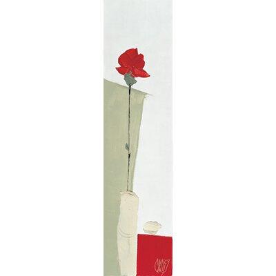 """DEInternationalGraphics """"Rose rouge"""" von Christian Choisy, Kunstdruck"""