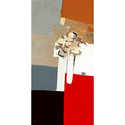 """DEInternationalGraphics """"Bouquet sur table rouge II"""" von Christian Choisy, Kunstdruck"""