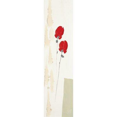 DEInternationalGraphics Deux roses rouges de mai Kunstdruck von Christian Choisy