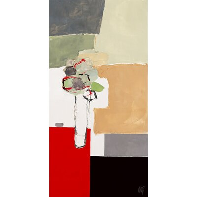 """DEInternationalGraphics """"Bouquet sur table rouge I"""" von Christian Choisy, Kunstdruck"""