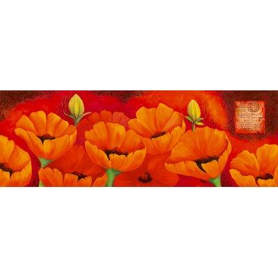 """DEInternationalGraphics """"Planche d´anémones orange"""" von Sylvi Pasquier, Kunstdruck"""