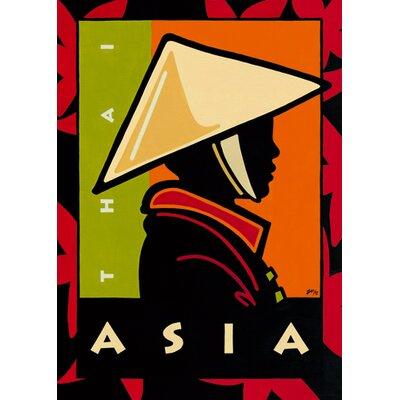 """DEInternationalGraphics """"Asia"""" von Gabriela Fischer, Grafikdruck"""
