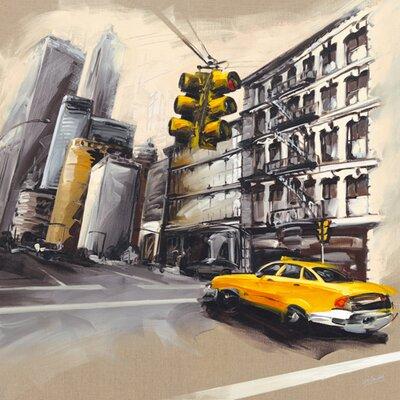 """DEInternationalGraphics """"New York - Feu Rouge I"""" von Sandrine Blondel, Kunstdruck"""
