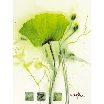 """DEInternationalGraphics """"Coquelicot vert I"""" von Marthe, Kunstdruck"""
