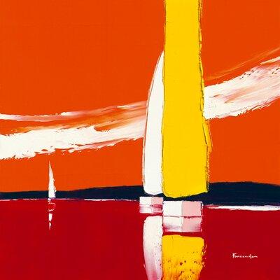"""DEInternationalGraphics """"La voile jaune"""" von Guy Fontdeville, Kunstdruck"""