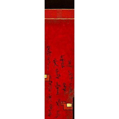 """DEInternationalGraphics """"Triptyque asiatique II"""" von Diana Thiry, Kunstdruck"""