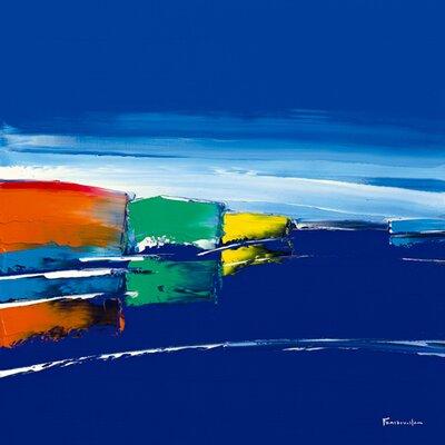 """DEInternationalGraphics """"Bleu marine"""" von Guy Fontdeville, Kunstdruck"""