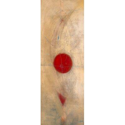 """DEInternationalGraphics """"Triptyque rouge I"""" von Carole Bécam, Kunstdruck"""