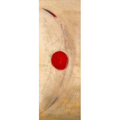 """DEInternationalGraphics """"Triptyque rouge III"""" von Carole Bécam, Kunstdruck"""