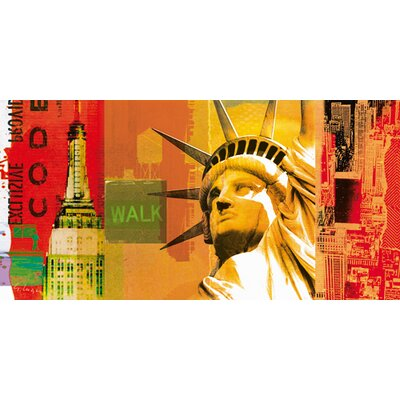 "DEInternationalGraphics ""New York IV"" von Gery Luger, Grafikdruck"