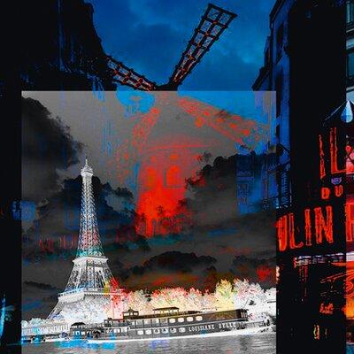 """DEInternationalGraphics """"Paris"""" von Mereditt.f, Grafikdruck"""