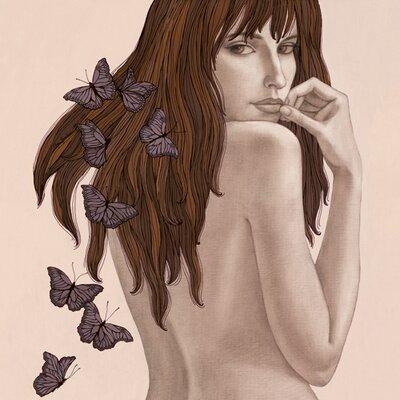 "DEInternationalGraphics ""Papillons"" von Olga Gouskova, Kunstdruck"