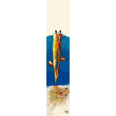 """DEInternationalGraphics """"Duo Bleu"""" von Marso, Kunstdruck"""