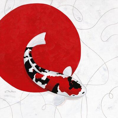 """DEInternationalGraphics """"Red Point Showa""""  von Nicole Gruhn, Kunstdruck"""