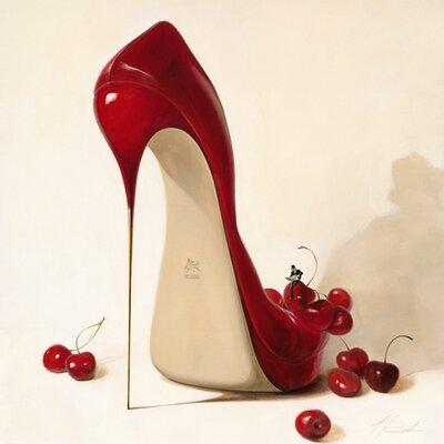 """DEInternationalGraphics """"Cherry Love"""" von Inna Panasenko, Kunstdruck"""