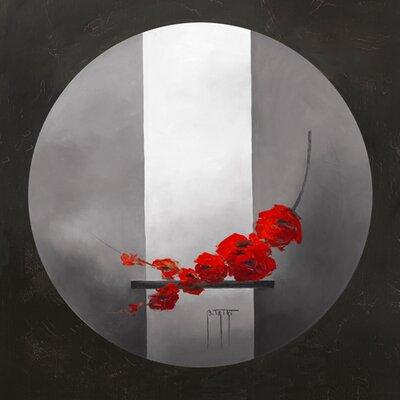 """DEInternationalGraphics """"Fleurs rouges"""" von Bernadette Triki, Kunstdruck"""