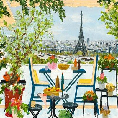 DEInternationalGraphics Terrasse fleurie sur la Seine Kunstdruck von BORDERIE