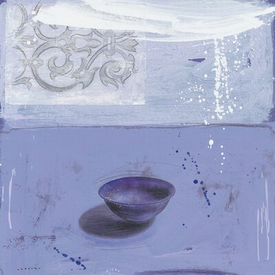 """DEInternationalGraphics """"Bleu à l´infini du jour"""" von Marylin Cavin, Kunstdruck"""