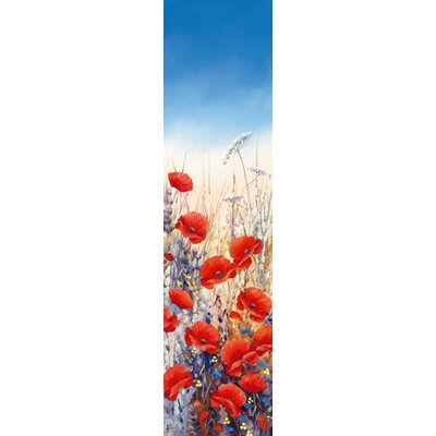 "DEInternationalGraphics ""Poppy Field II"" von Hilary Mayes, Kunstdruck"