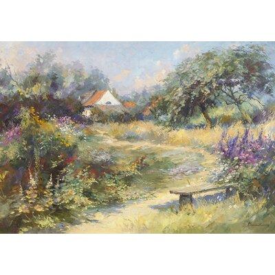 """DEInternationalGraphics """"Le jardin du peintre"""" von Paul Messely, Kunstdruck"""