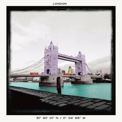 "DEInternationalGraphics ""London Bridge"" von Anne Valverde, Grafikdruck"