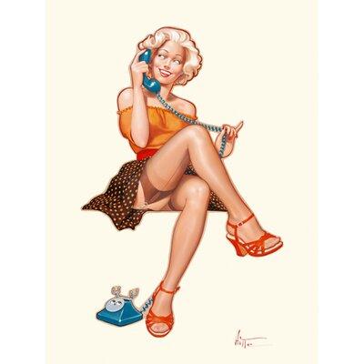 """DEInternationalGraphics """"Betty au téléphone"""" von Patrick Hitte, Kunstdruck"""