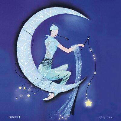 """DEInternationalGraphics """"Paper Moon"""" von Marilyn Robertson, Kunstdruck"""
