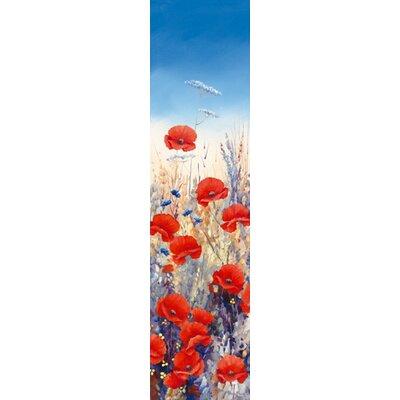 """DEInternationalGraphics """"Poppy Field I"""" von Hilary Mayes, Kunstdruck"""