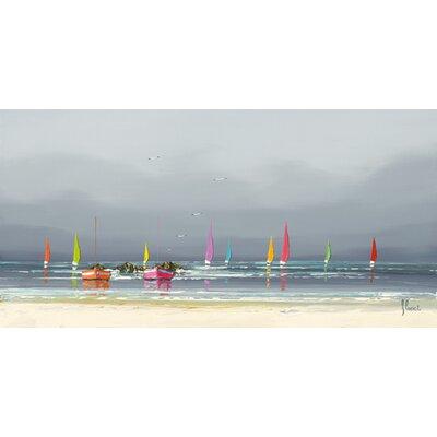 """DEInternationalGraphics """"La plage"""" von Frédéric Flanet, Kunstdruck"""