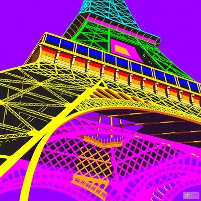 "DEInternationalGraphics ""Acrylglasbild Tour Eiffel Happy"" von Dominique Massot, Grafikdruck"