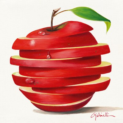 "DEInternationalGraphics ""Red Apple Cut"" von Paolo Golinelli, Kunstdruck"