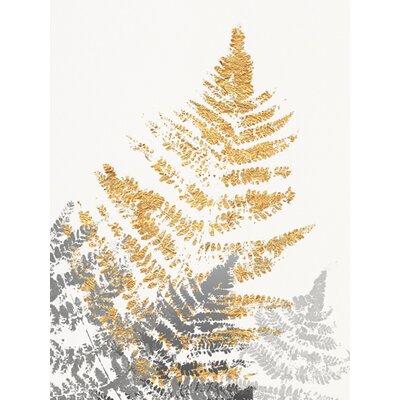 """DEInternationalGraphics """"Blattgold III"""" von SARA Design, Kunstdruck"""