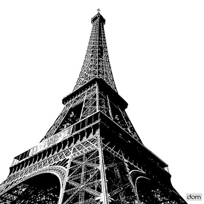 """DEInternationalGraphics Acrylglasbild """"Tour Eiffel High"""" von Dominique Massot, Fotodruck"""