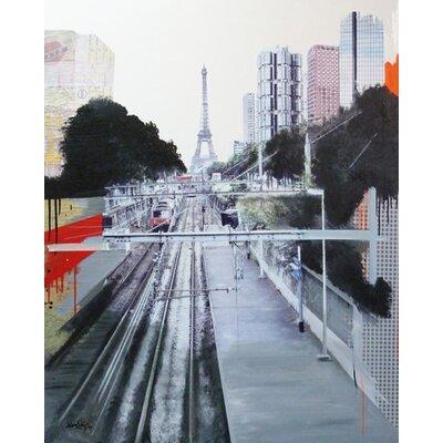 "DEInternationalGraphics ""Lignes parisiennes"" von Arnaud Puig, Fotodruck"