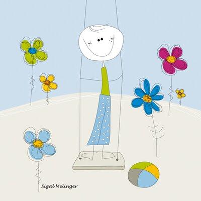 """DEInternationalGraphics """"Boy on a Swing"""" von Sigal Melinger, Kunstdruck"""