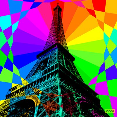 "DEInternationalGraphics Acrylglasbild ""Tour Eiffel Fireworks"" von Dominique Massot, Grafikdruck"