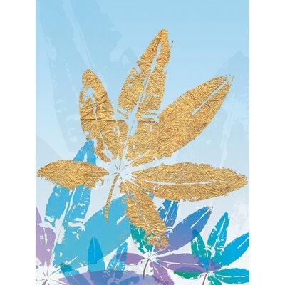 """DEInternationalGraphics """"Goldnes Sommerblau III"""" von Sara Designs, Grafikdruck"""