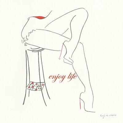 """DEInternationalGraphics """"Serie Beine IV"""" von Rosy Schneider, Kunstdruck"""
