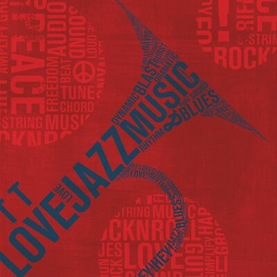 "DEInternationalGraphics ""Acrylglasbild Type Trumpet Square"" von Michael Mullan, Grafikdruck"